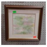 Artist signed and dated water color, titled Water