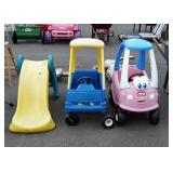 Two little tikes cars and slide