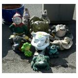 Group of lawn decor statues