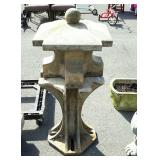 Three piece concrete lawn decor