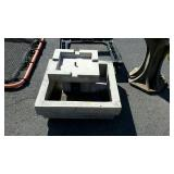 Two piece concrete water fountain