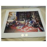 "Daniel Moore A.P. "" Ole Miss Legacy"" signed print"