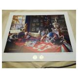 "Daniel Moore A.P ""ole miss Legacy"" signed print"