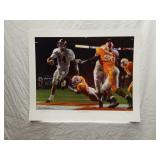 Signed Daniel Moore Running Through A.P. Print