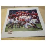 "Daniel Moore ""Rocky Stop"" signed print"