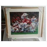 "Daniel Moore ""The Goal Line Dive"" signed & #"