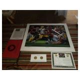 "Daniel Moore A.P. "" The Shutout"" signed print"