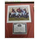 "Daniel Moore "" iron bowl gold 1962"" signed print"