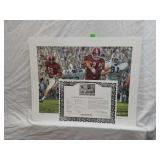 Signed Daniel Moore Iron Bowl Gold 1968 Print