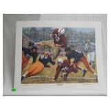 "Daniel Moore ""iron bowl gold 1950"" signed print"