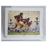 "Daniel Moore "" iron bowl gold 1948"" signed print."