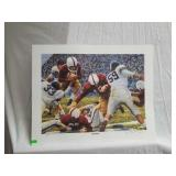 "Daniel Moore ""iron bowl gold 1951"" signed print"