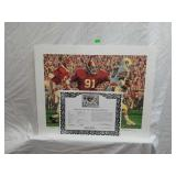 Signed Daniel Moore Iron Bowl Gold 1676 Print