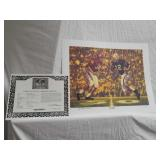 "Daniel Moore ""iron bowl gold 1961 signed print"