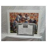Signed Daniel Moore Iron Bowl Gold 1975 Print