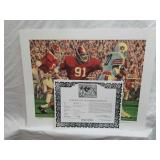 Signed Daniel Moore Iron Bowl Gold 1976 Print