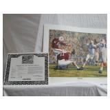 "Daniel Moore ""iron bowl gold 1960"" signed print"
