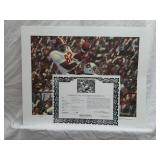 Signed Daniel Moore Iron Bowl Gold 1977 Print