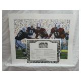 Signed Daniel Moore Iron Bowl Gold 1959 Print