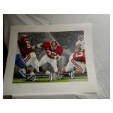 ?Large Signed Alabama Football Hand Colored Print?