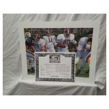 Signed Daniel Moore Iron Bowl Gold 1973 Print