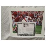 Signed Daniel Moore Iron Bowl Gold 1974 Print