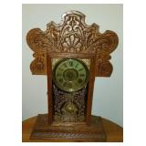 Antique Sessions Mantle Clock  Oak Case
