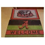 Lot of 2 Alabama Football Floor Mats