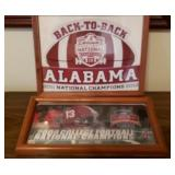 Lot of Alabama Football Magnets & License Plate