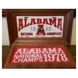 Lot of 2 Alabama Football License Plates