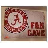 Lot of 2 Alabama Football Wall Decor Items