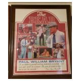 Vintage The Bear Alabama Football Print