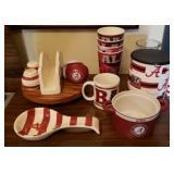 Lot of Alabama Football Kitchenware & More