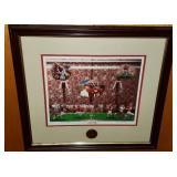 Signed Bama is Back Framed Football Print