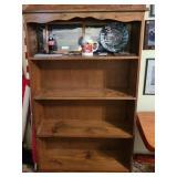 4 tier solid wood shelf