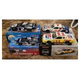 Lot of 4 nascar 1:24  and 1:32 scale collector car
