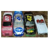 Lot of 4 nascar 1:24 scale collectors cars