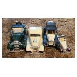 Lot of 4 collectable toy cars