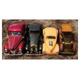 Lot of 4 collectors toy cars