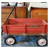 Red Wooden Radio Flyer Town & Country Wagon