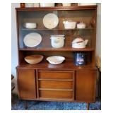 Mid Century Modern Bassett Wooden Curio Cabinet