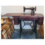 Vintage Singer Sewing Machine & Singer Table