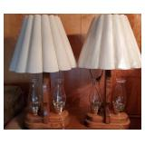 Pair of Vintage Lantern Style Electrical Lamps