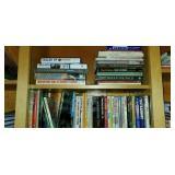 Two Shelves of Misc Household Books
