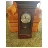 Vintage New England regulator style wall clock