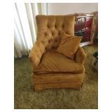 Vintage Brown velor arm chair
