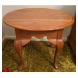 Gorgeous oak wood side table