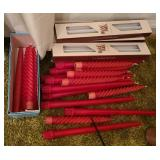 Estate lot of long stick candles