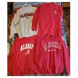 Lot of 4 Alabama Crimson Tide Sweatshirts