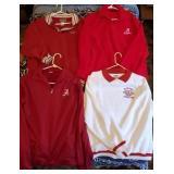 Lot of 4 Alabama Crimson Tide Pullover Jackets